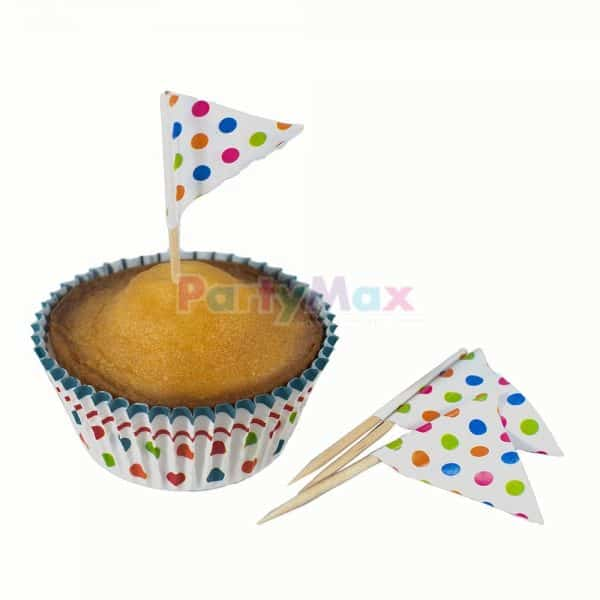 KIT CUPCAKE POLKA MULTICOLOR*24