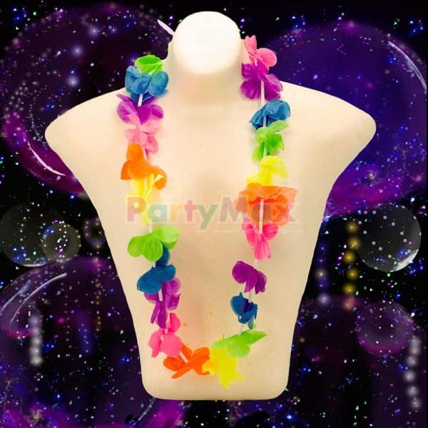 COLLAR HAWAIIANO EN TELA NEON*12